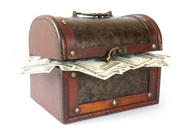 תיבה עם כסף אבוד